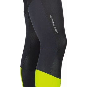 GORE WEAR C7 Partial Windstopper+ Pro Bib Tights Men black/neon yellow
